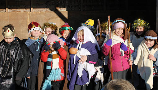 Aylsham Church and local school children perform nativity play at Redwings Aylsham
