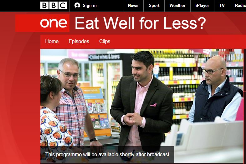 Graphic from BBC Eat Well for Less