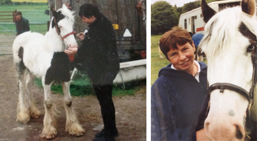 Christine first rescued Flynn from a horse sale when he was just six months old