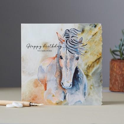 Greeting card happy birthday you dark horse redwings horse greeting card happy birthday you dark horse m4hsunfo