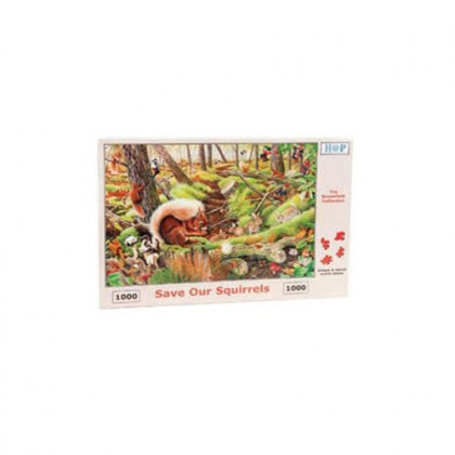 Save our Squirrels' 1,000 piece Jigsaw Puzzle | Redwings Horse