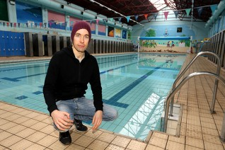 Andrew Croxall's Big Swim - image credit Mark Lee, Nottingham Post