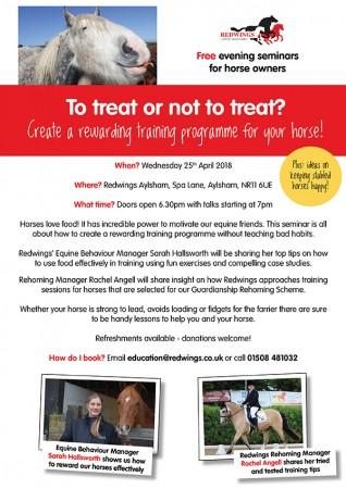 Redwings free seminar April 2018