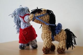knitted donkeys
