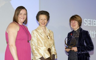 HRH Princess Anne and Redwings CEO Lynn Cutress